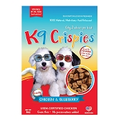 K9 Crispies Chicken & Blueberry Dehydrated Bite-Size Training Dog Treats, 6-oz Bag