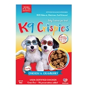 K9 Crispies Chicken & Cranberry Dehydrated Bite-Size Training Dog Treats, 6-oz Bag