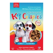 K9 Crispies Turkey and Blueberry Dehydrated Bite-Size Training Dog Treats, 6-oz Bag