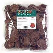 K9 Kraving Beef Liver Cookies Dog Treats, 5-lb Bag