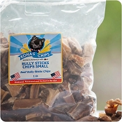 Kona's Chips USA Bully Stick Chip Bites Dog Treats, 16-oz Bag