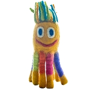LeSharma Eco Octopus Wool Dog Toy, Large, Yellow