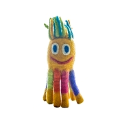LeSharma Eco Octopus Wool Dog Toy, Small, Yellow