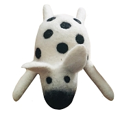 Lollycadoodle Cow Boiled Wool Dog Toy