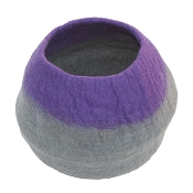 Lollycadoodle Wool Cat Cave, Purple