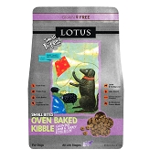 Lotus Oven-Baked Small Bites Grain-Free Lamb & Turkey Liver Dry Dog Food, 4-lb Bag