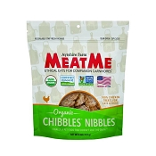 MeatMe Organic Chibbles Nibbles Chicken Treats for Dogs, 4-oz Bag