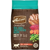 Merrick Real Duck + Sweet Potato Recipe Grain-Free Adult Dry Dog Food, 22-lb Bag