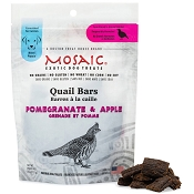 Mosaic Quail Bars Pomegranate & Apple Exotic Dog Treats, 4-oz pouch