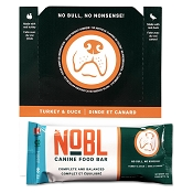 NOBL Adult Canine Freeze-Dried Food Bars: Turkey and Duck Recipe for Dogs, CASE of 12