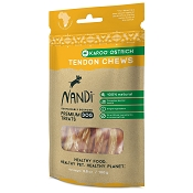 Nandi Karoo Ostrich Tendon Chews Dog Treats, 3.5-oz Bag