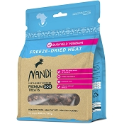 Nandi Bushveld Venison Freeze-Dried Dog Treats, 2-oz Bag