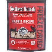 Northwest Naturals Rabbit Recipe Freeze-Dried Cat Food, 11-oz Bag