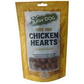 OC Raw Freeze-Dried Chicken Hearts Dog Treats, 4-oz Bag