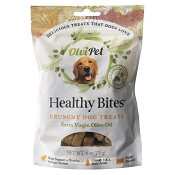 OlviPet Healthy Bites Olive Oil Crunchy Dog Treats, 6-oz Bag