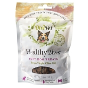 OlviPet Healthy Bites Olive Oil Soft Dog Treats, 6-oz Bag