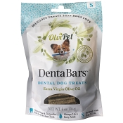 OlviPet DentaBars Olive Oil Dental Dog Treats, Small