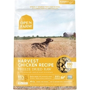 Open Farm Harvest Chicken Recipe Morsels Freeze Dried Raw Dog Food, 22-oz Bag