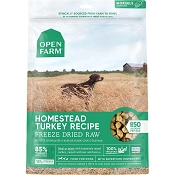 Open Farm Homestead Turkey Recipe Morsels Freeze Dried Raw Dog Food, 22-oz Bag