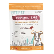 PETIPET Turmeric Bars Inflammation & Allergy Complex Dog Supplement, 180 count