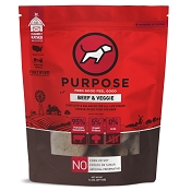 PURPOSE Beef & Veggie Freeze Dried Dog Food, 14-oz Bag