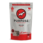 PURPOSE Freeze Dried Grass Fed Beef Liver Dog Treats, 3-oz Bag