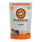 PURPOSE Freeze Dried Free Range Chicken Heart Dog Treats, 3-oz Bag