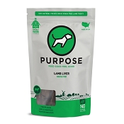 PURPOSE Freeze Dried Grass Fed Lamb Liver Dog Treats, 3-oz Bag