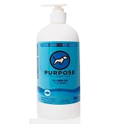 PURPOSE Wild Caught Salmon Oil For Dogs & Cats, 16-oz Bottle