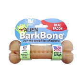 Pet Qwerks Alien BarkBone Bacon Flavor-Infused Dog Chew Toy, Large