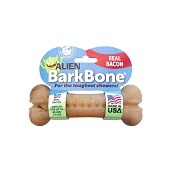 Pet Qwerks Alien BarkBone Bacon Flavor-Infused Dog Chew Toy, Medium