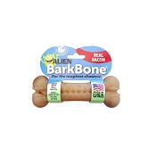 Pet Qwerks Alien BarkBone Bacon Flavor-Infused Dog Chew Toy, Small