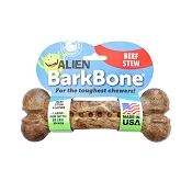 Pet Qwerks Alien BarkBone Beef Stew Flavor-Infused Dog Chew Toy, Large