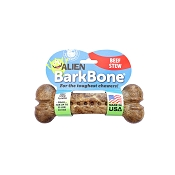 Pet Qwerks Alien BarkBone Beef Stew Flavor-Infused Dog Chew Toy, Small