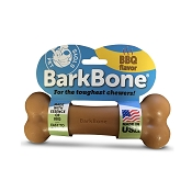 Pet Qwerks BarkBone BBQ Flavored Nylon Bone USA Dog Chew Toy, Large