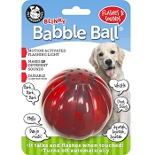 Pet Qwerks Blinky Babble Ball Interactive Dog Toy, Large