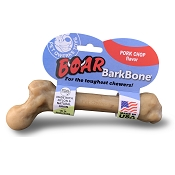 Pet Qwerks Boar BarkBone with Pork Chop Flavoring USA Dog Chew Toy, Large