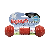 Pet Qwerks Bongo BarkBone with Prime Rib Flavoring USA Dog Chew Toy, Large