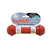 Pet Qwerks Bongo BarkBone with Prime Rib Flavoring USA Dog Chew Toy, Medium