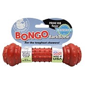 Pet Qwerks Bongo BarkBone with Prime Rib Flavoring USA Dog Chew Toy, Extra Large