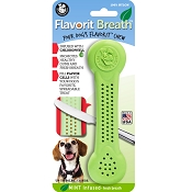 Pet Qwerks Flavorit Breath Mint Flavored Nylon Bone USA Dog Chew Toy, Large