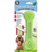 Pet Qwerks Flavorit Breath Mint Flavored Nylon Bone USA Dog Chew Toy, Extra Large