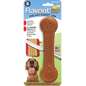 Pet Qwerks Flavorit Peanut Butter Flavored Nylon Bone USA Dog Chew Toy, Extra Large