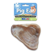 Pet Qwerks Nylon Pig Ear Bacon Flavored USA Dog Chew Toy, Large