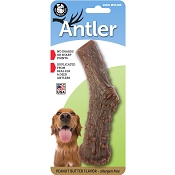 Pet Qwerks Peanut Butter Flavored Nylon Antler USA Dog Chew Toy, Large
