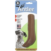 Pet Qwerks Peanut Butter Flavored Nylon Antler USA Dog Chew Toy, Extra Large