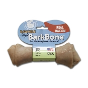 Pet Qwerks Rawhide Style BarkBone Bacon Flavor-Infused USA Dog Chew Toy, Large