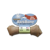 Pet Qwerks Rawhide Style BarkBone Bacon Flavor-Infused USA Dog Chew Toy, Medium