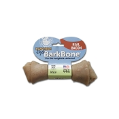 Pet Qwerks Rawhide Style BarkBone Bacon Flavor-Infused USA Dog Chew Toy, Small
