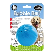 Pet Qwerks Talking Babble Ball Interactive Dog Toy, Large